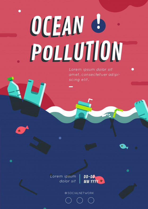 Ocean Pollution Poster Layout