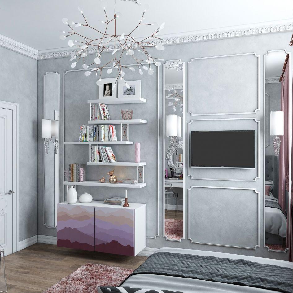 Интерьер жилого дома Галерея 3dddru: Спальня для молодой девушки. - Галерея 3ddd.ru