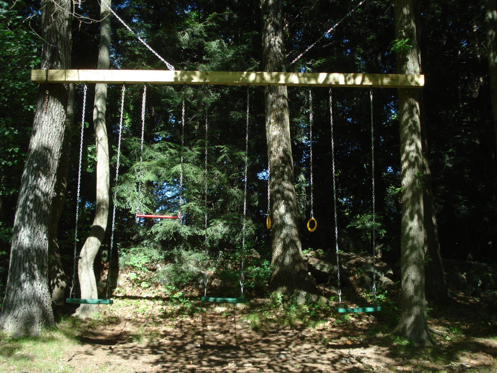 Swings To Hang From Trees Around 7 Years Ago I Put Up A Swing Set It Was Little More Than A 16 Swing Set Backyard Adventure Natural Playground