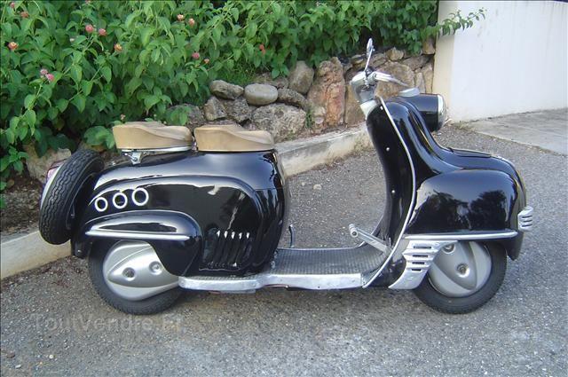 Vieux Scooter Ancien De Collection Vespa Lambretta 10 000