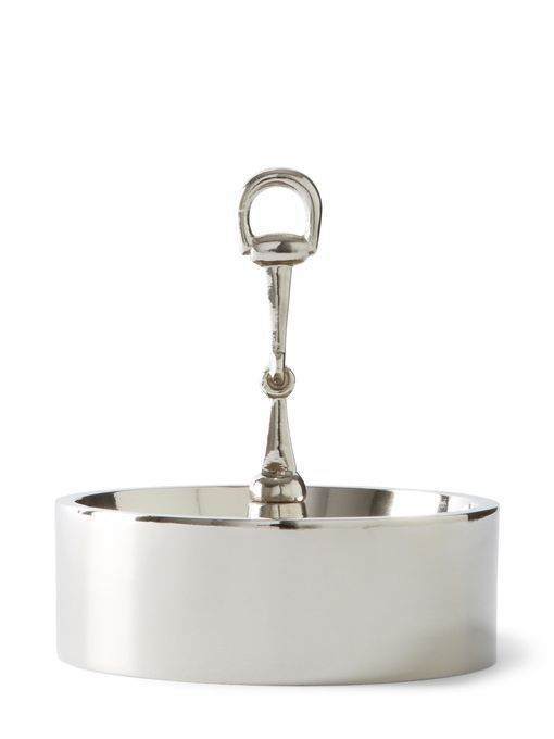 Bar snacks get an upgrade in this elegant serving dish with equestrian detail.