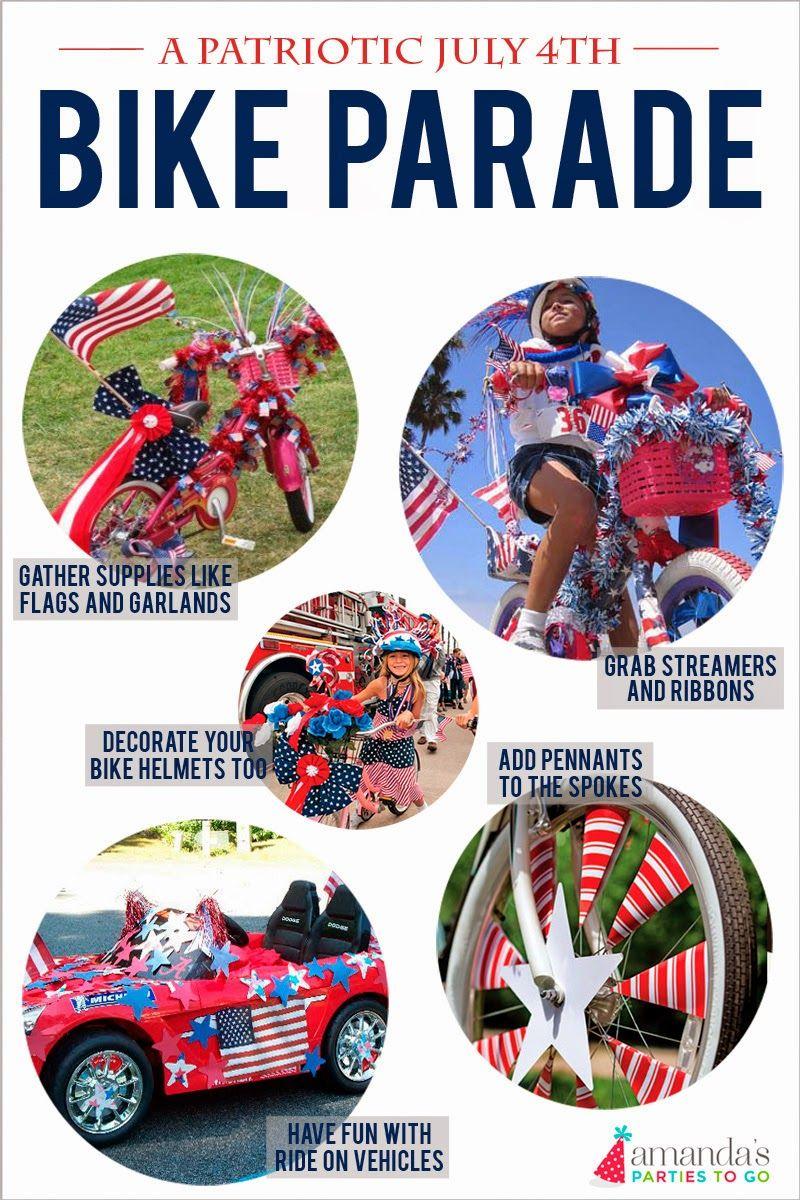 Amanda S Parties To Go July 4th Bike Parade Bike Parade 4th Of July Parade Bike Decorations