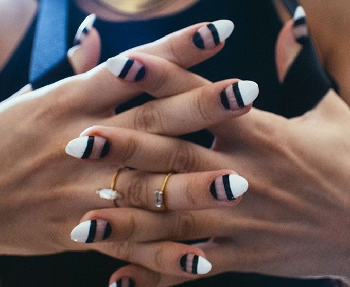 Mani talk: Negative space nail art | Negative space, Spaces and Nail ...