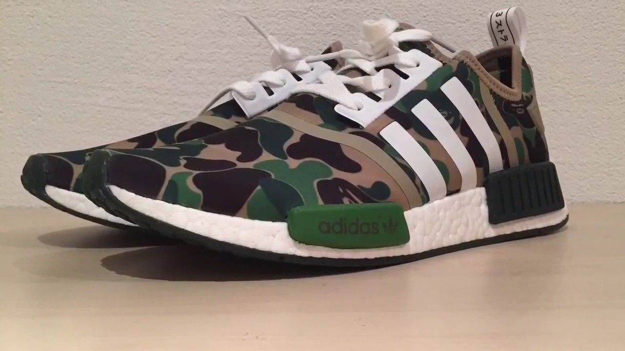 7e1996b2132 UA NMD Bape Green Camo The Worlds best fake NMD BAPE!!! English ...