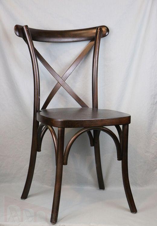 Walnut Cross back chair, X-back chair | EventStable.com ...