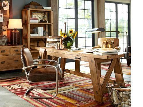 Superbe Office : IDEAS U0026 INSPIRATIONS: Pottery Barn Home Office Decor Home Office  Decorating Ideas