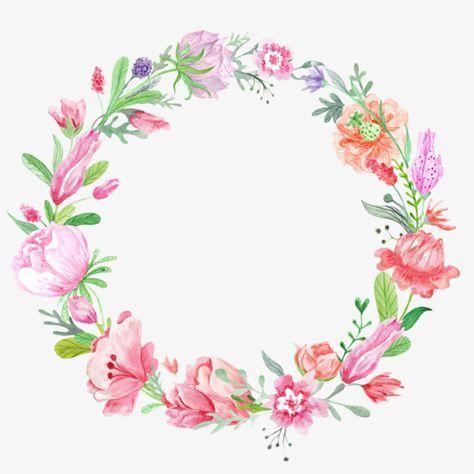 Color Flower Wreath Flower Clipart Wreath Flowers Png