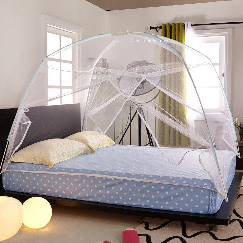 White Portable Folding Mosquito Net Tent Freestand Bed Twin Queen King 19 90 14 90s 34 60