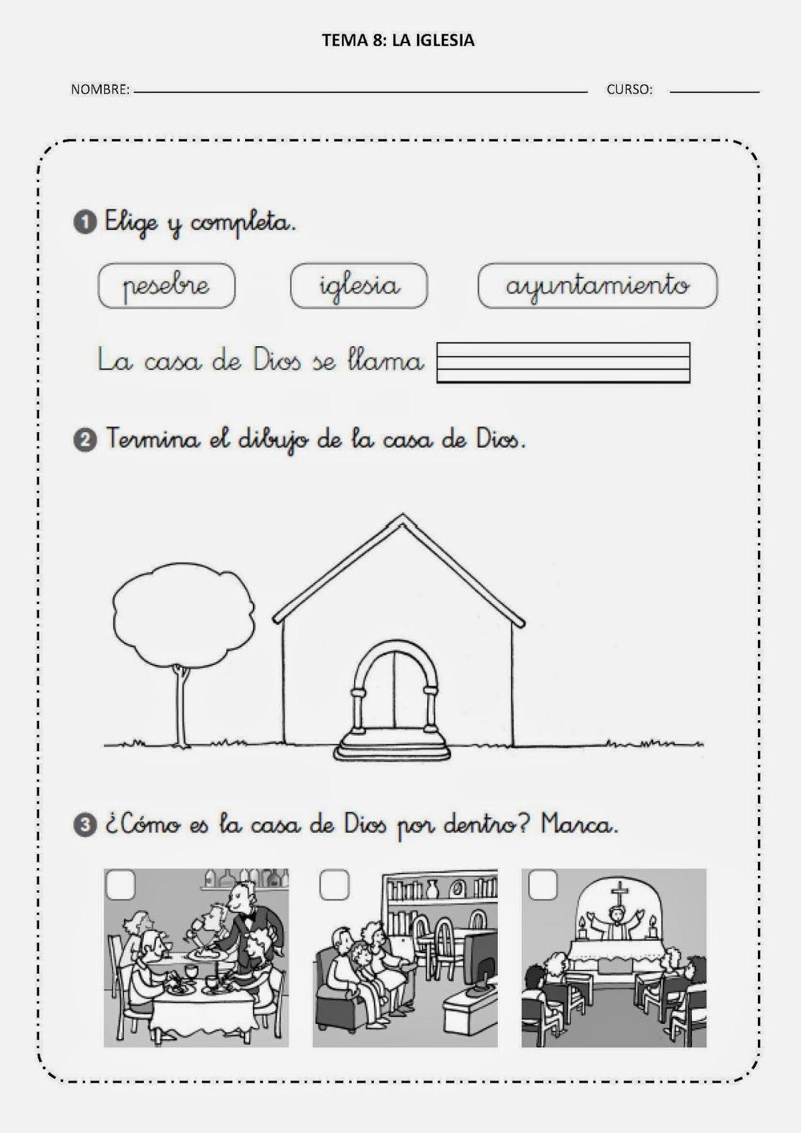 Os Dejo La Segunda Ficha De Este Tema Ficha 2 Explicar Cómo Es La Iglesia Por Dentro Y P Enseñanza Religiosa Educación Religiosa Católica Educación Religiosa