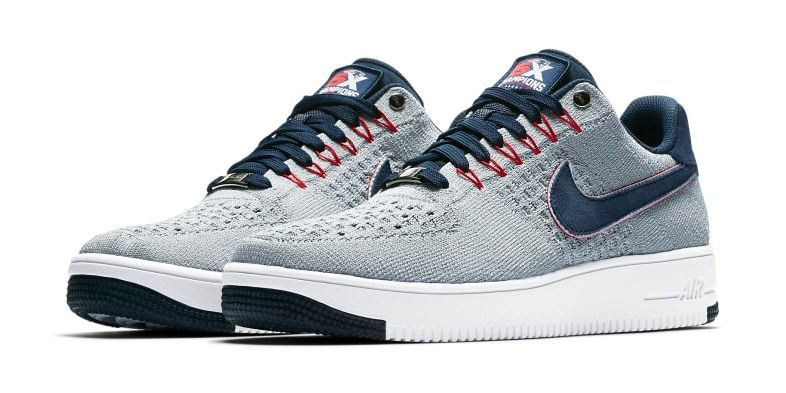 Nike Reveals A New England Patriots Air Force 1 Ultra Flyknit Low Nike Nike Air Sneakers