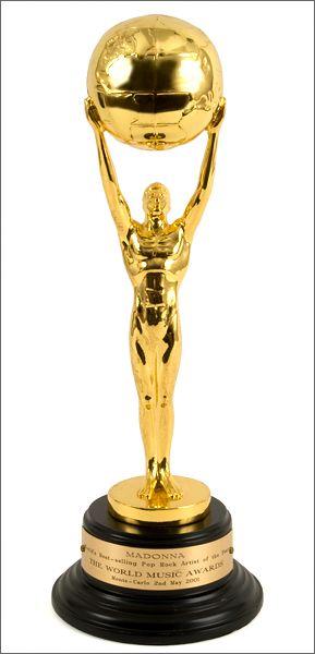 Lot Detail Madonna World Music Award World Music Awards Awards Trophy Music Awards