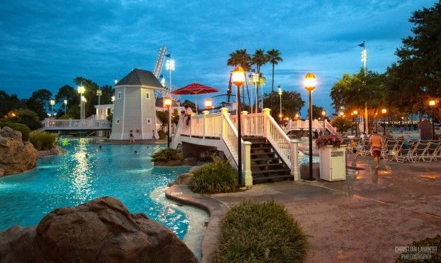 Evening By The Pool At Disney S Beach And Yacht Club Resort Orlando