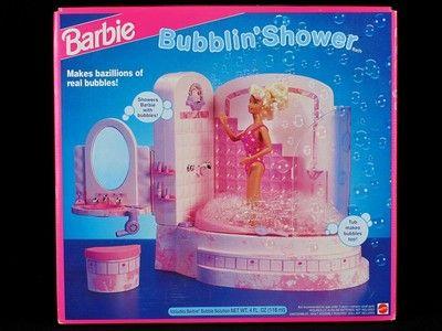 vintage barbie bubblin 39 shower 1992 4809 mattel bath toy. Black Bedroom Furniture Sets. Home Design Ideas