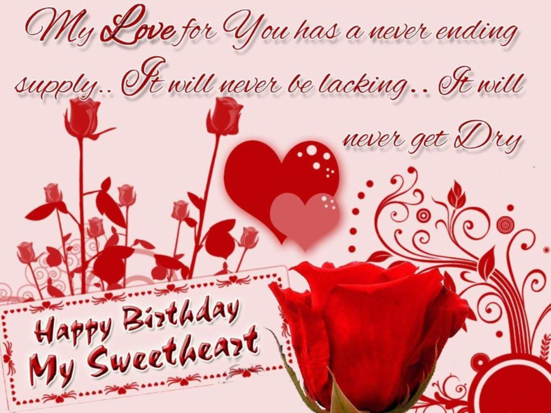 Happy Birthday Wishes For Lover Wallpaper