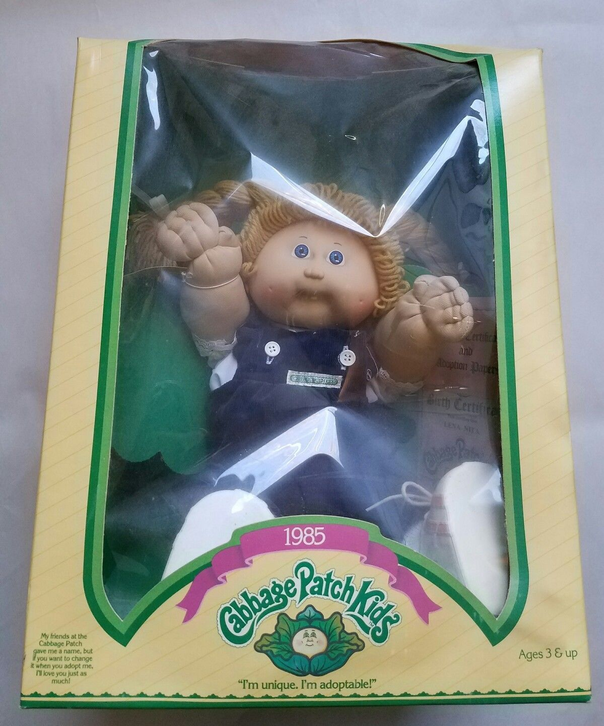 1985 Cabbage Patch Kids Lesley Herbie Football Player Brown Eyes Box Certif Ebay Cabbage Patch Kids Dolls Cabbage Patch Kids Cabbage Patch Dolls
