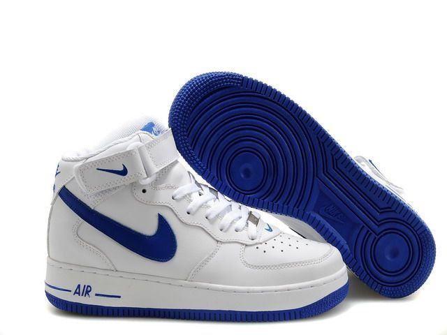 chaussure nike air force one,air force 1 mid blanche et bleu