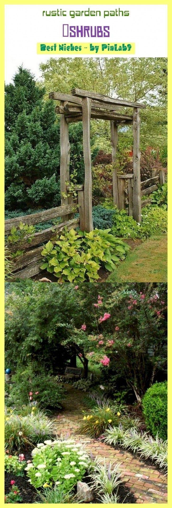 Photo of Rustic garden paths #shrubs #gardens. garden paths and walkways, garden paths ch…