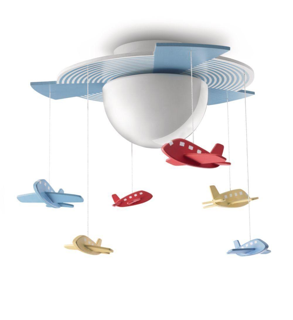 pilotenzimmer sch ne deckenlampe mit flugzeugen f r das kinderzimmer kleiner piloten. Black Bedroom Furniture Sets. Home Design Ideas