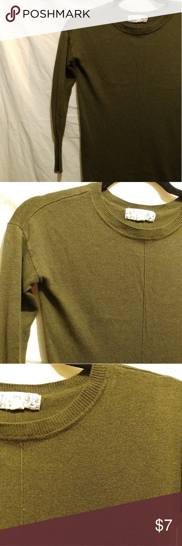 Olive green sweater Perfect for fall Nice, dark olive green Slight ...