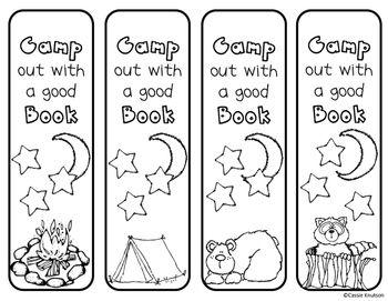 Camping Bookmarks Happy Camper Book Fair Classroom