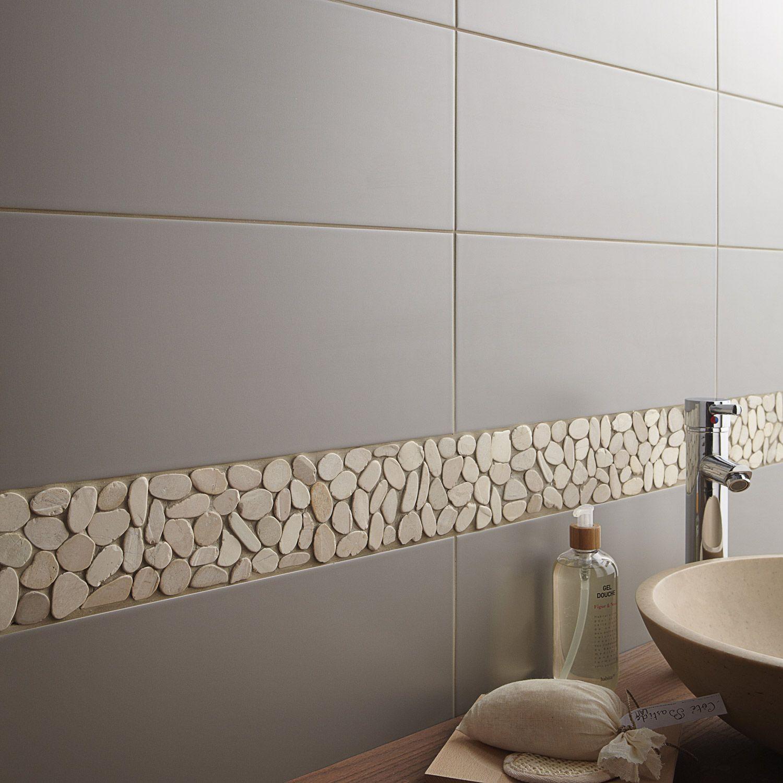 Carrelage Mural Loft En Faience Gris Gris N 3 20 X 50 2 Cm Carrelage Salle De Bain Amenagement Salle De Bain Idees Salle De Bain