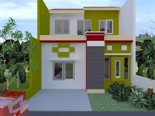 Warna Cat Depan Rumah Yang Bagus Rumah Hijau Rumah Minimalis Rumah