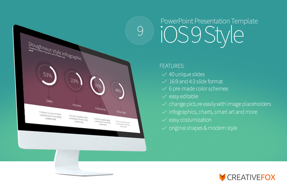 Ios  Style Powerpoint Template By Creative Fox On Creative Market