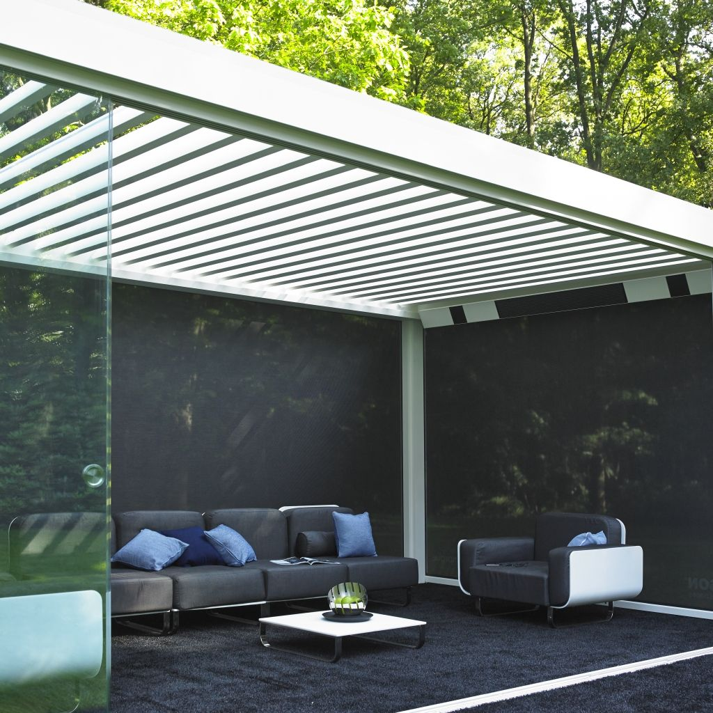 syst me de vitrages coulissants pour pergola bioclimatique. Black Bedroom Furniture Sets. Home Design Ideas