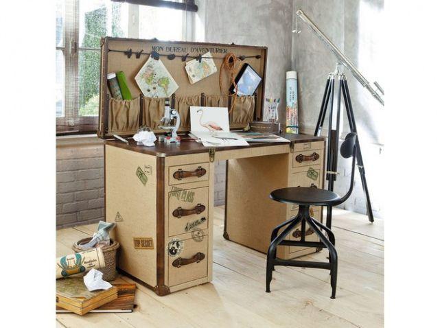 bureau en bois aventurier bureau office pinterest bureau en bois aventurier et bureau. Black Bedroom Furniture Sets. Home Design Ideas