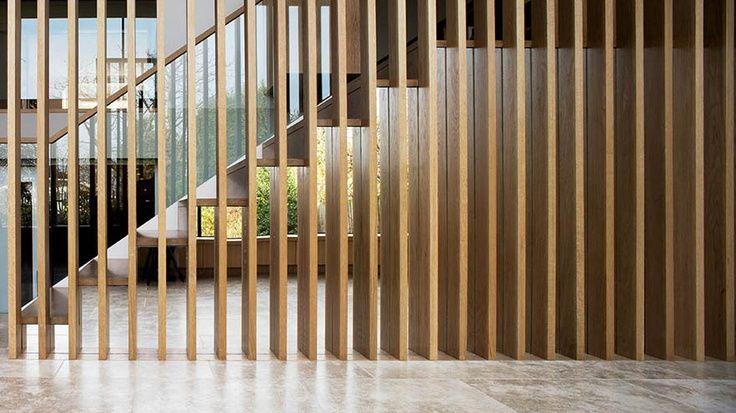 Divider wood houten scheidingswand wand van planken a140018 pinterest - Planken modern design ...