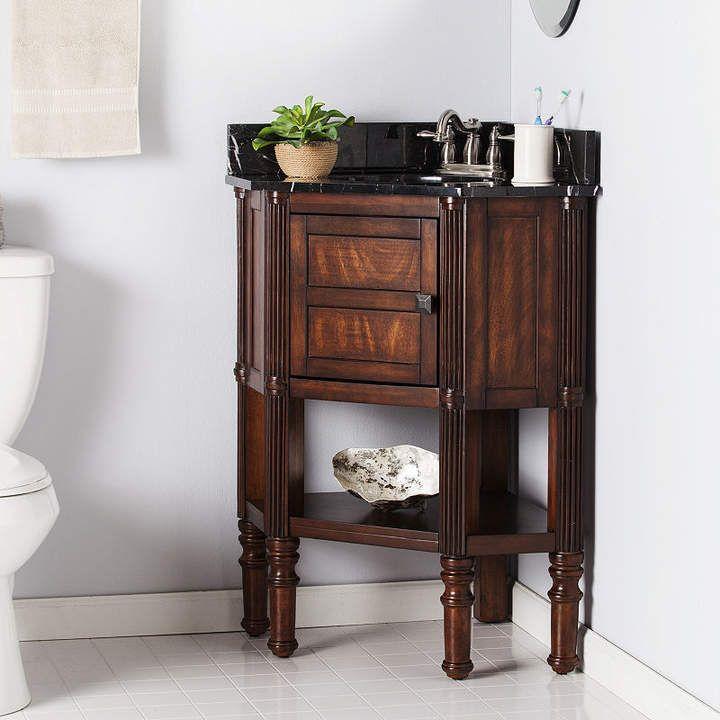 Southern Enterprises Southlake Furniture Corner Bath Vanity Sink