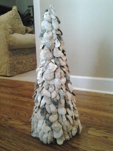 My latest design, An Oyster Shell Christmas Tree