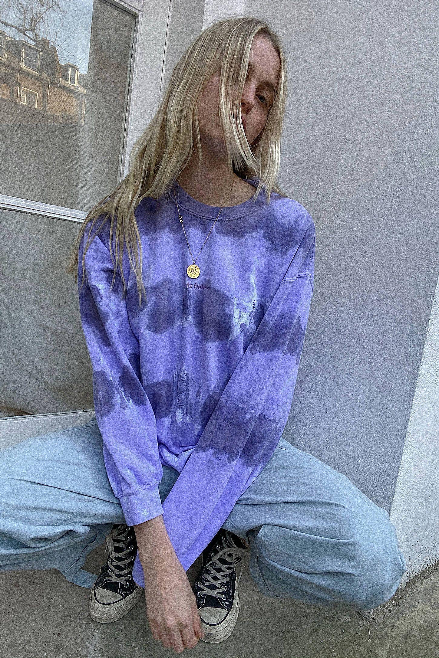 Iets Frans Purple Tie Dye Crew Neck Sweatshirt Tie Dye Crew Neck Sweatshirt Purple Tie Dye [ 2175 x 1450 Pixel ]