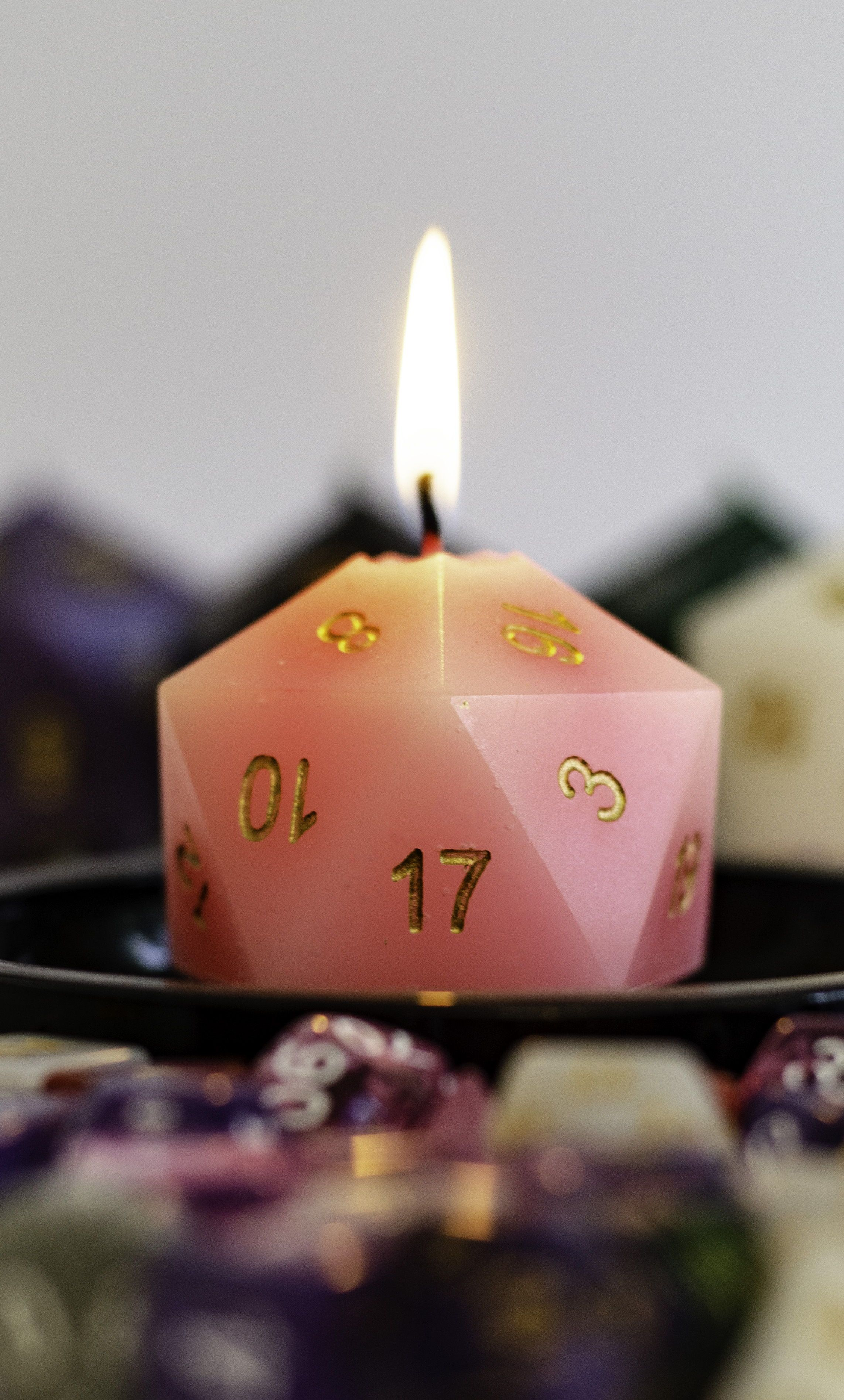 Custom D20 Dice Candle, Critical Hit Candle, D&D Decor, Dungeons and Dragons Table Top Pillar Candle, DandD, DnD #candles