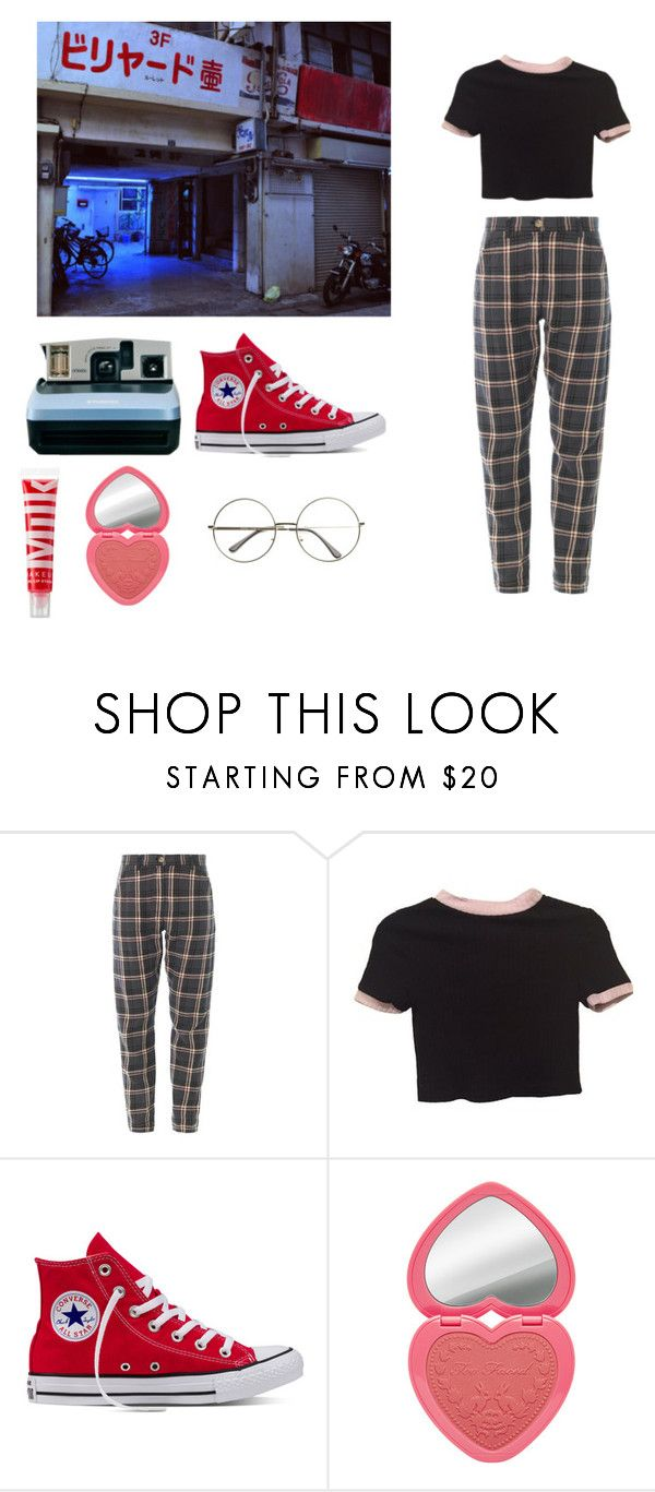"""""""night out"""" by fragilestars on Polyvore featuring Brandy Melville, Polaroid and MILK MAKEUP"""