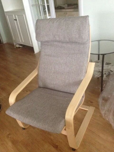 Details About Custom Made Armchair Cover Fits Ikea Poang Chair