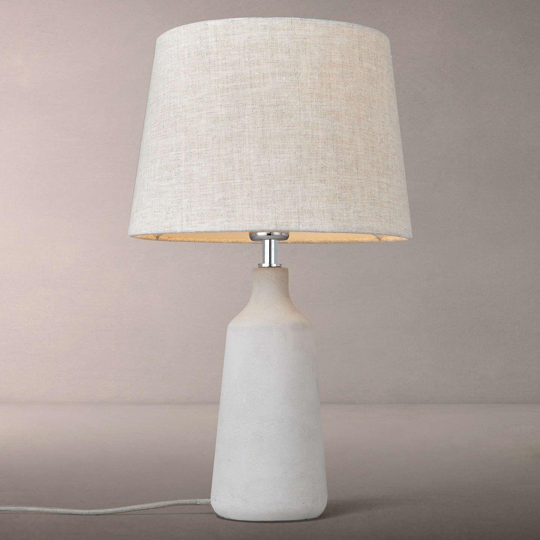Meryl Large Concrete Table Lamp, White