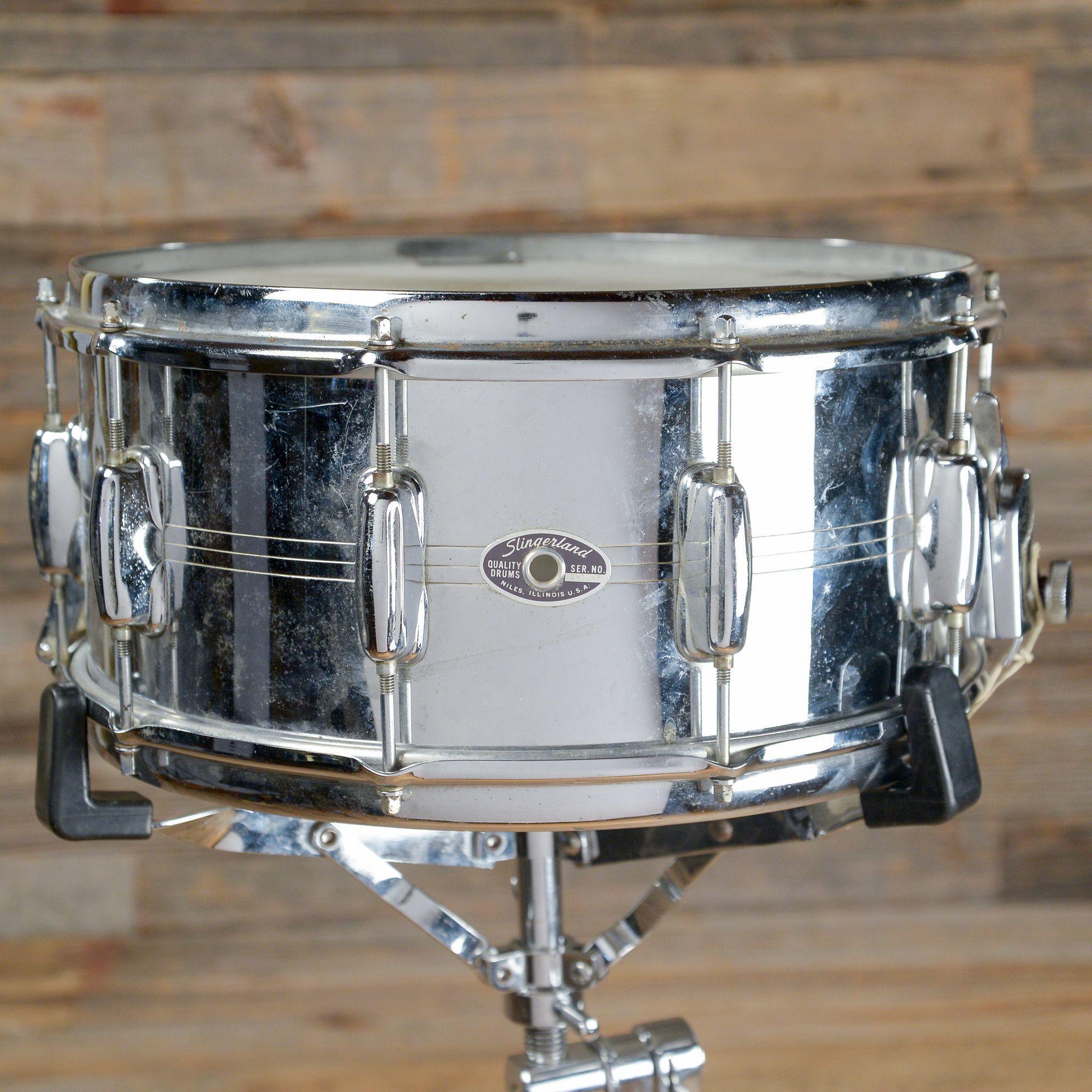 Slingerland 6.5x14 Gene Krupa Sound King 10 Lug COB Snare Drum 1970s ...
