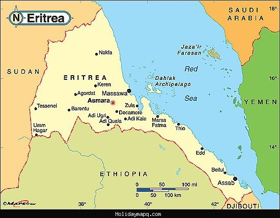 Awesome eritrea map holidaymapq pinterest awesome eritrea map gumiabroncs