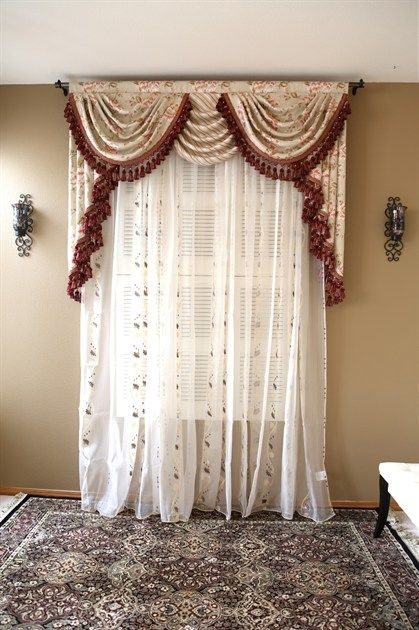 Debutante swag valance curtains The Debutante jacquard valance curtain set is just the piece every girl dreams of. Ivory cotton embossed with pink peony pattern creates a stunning 3-dimensional look. Not only that, the floral pattern is subtly woven in different layers, adding vividity and sophistication.
