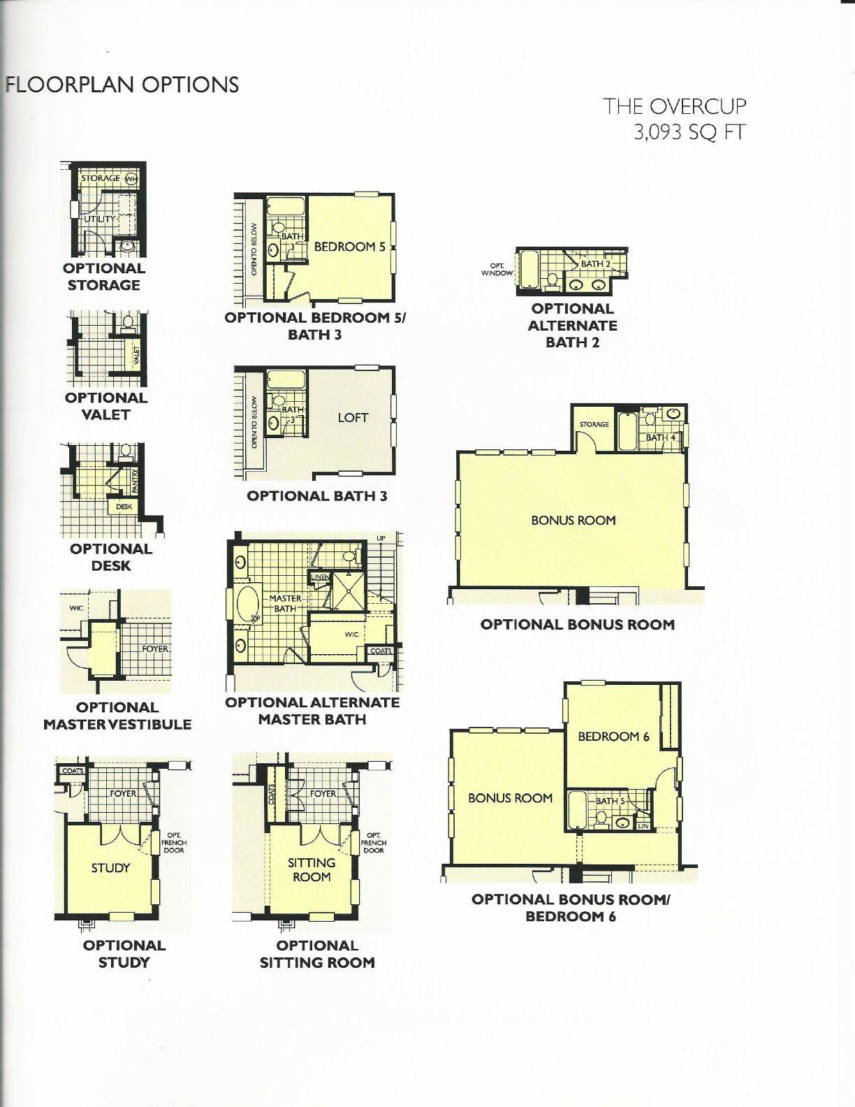 Oakland Park Overcup Floor Plan Options In Winter Garden FL