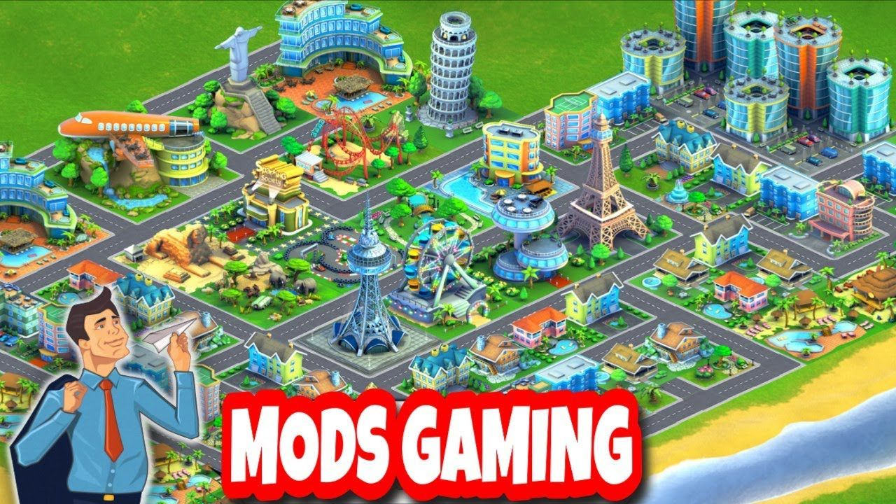 Airport City Mod Apk Unlimited Money Coins Energy Fuel Https Youtu Be Zyiinsh Aqk City Hacks City Island Airport City