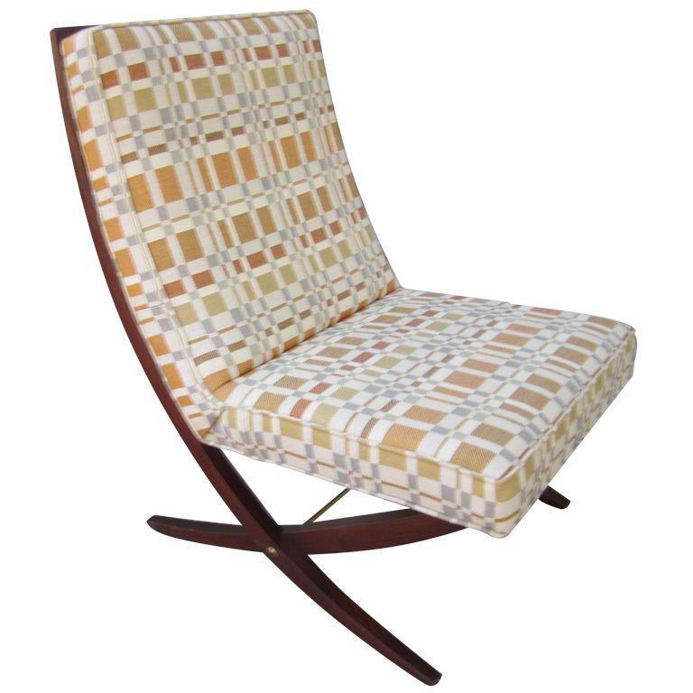 John Stuart Scissor Chair With Boris Kroll Fabric