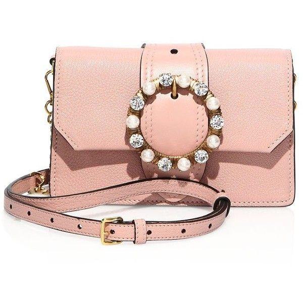 Miu Miu Jeweled Leather Crossbody Belt Bag ( 1 2a29ce13e5190