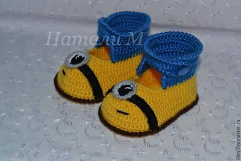 Botas minions | для малышки | Pinterest | Minions
