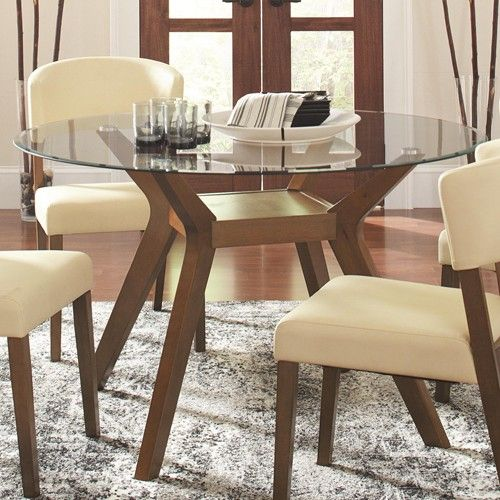 Coaster Company 122180 Paxton 12218 Round Glass Dining Table