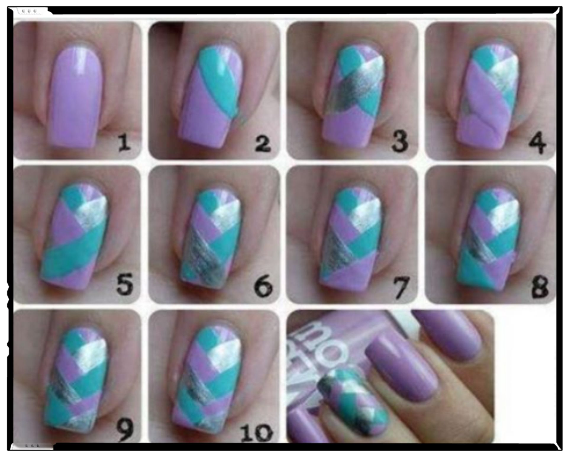 Vernis Simple A Realiser Sans Materiel Mermaid Nail Art Nail Art Manicure Mermaid Nails