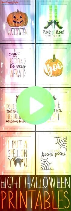 Eight Watercolor Halloween Printables are the perfect SPOOKY addition to y  Bullet Journal ing These Eight Watercolor Halloween Printables are the perfect SPOOKY addition...