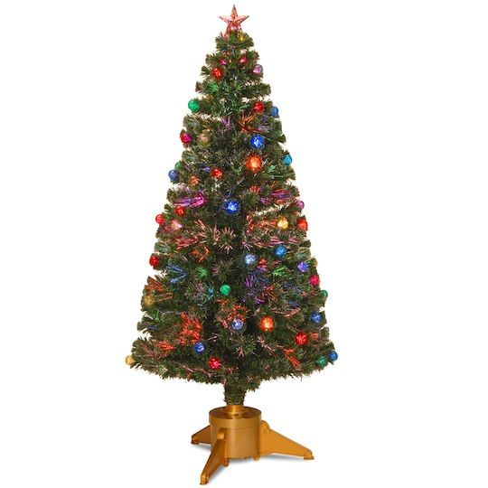 6 Ft Fiber Optic Fireworks Artificial Christmas Tree With