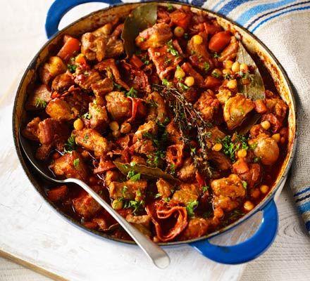 Chorizo pork belly chickpea casserole recipe pinterest pork bbc good food forumfinder Images